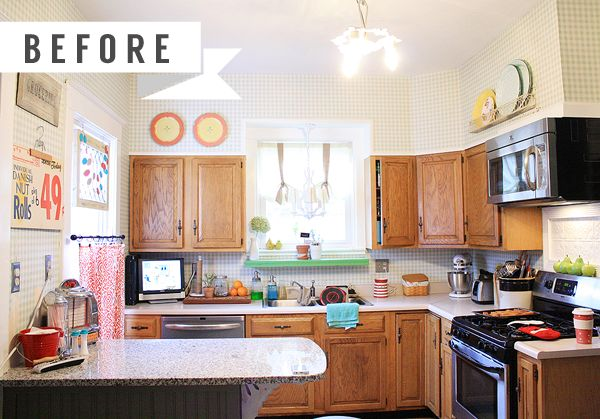 Painted Cabinet Before And After Kitchen Remodel Ideas on before and after painted trim, wood kitchen cabinets ideas, before and after restaining kitchen cabinets, before and after painted oak kitchen cabinets,