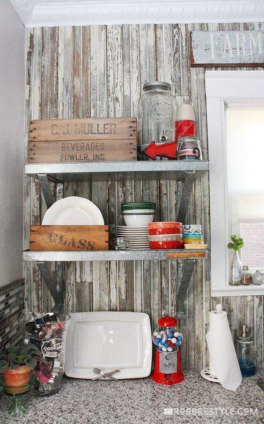 Diy vintage farmhouse kitchen remodel hometalk for Kitchen home improvement