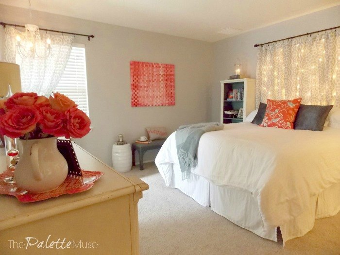 make your own dreamy lit headboard it s easier than you think bedroom