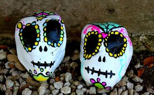 sugar skull yard decorations, crafts, gardening