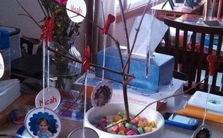 photo tree diy valentine s day craft, crafts, seasonal holiday decor, valentines day ideas