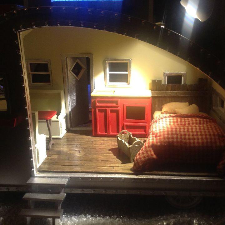 DIY Miniature Tiny Trailer Dollhouse