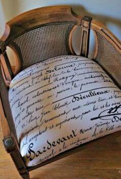 reupholster chair fake antique, repurposing upcycling, reupholster
