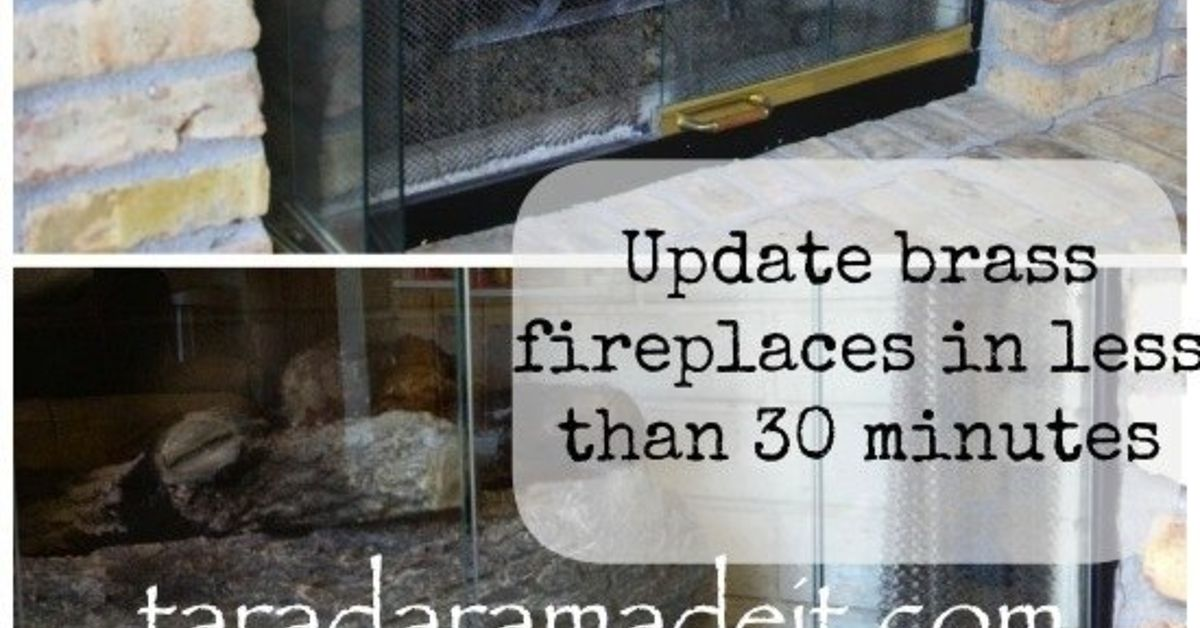 Fireplace Design removing fireplace : Update Your Brass Fireplace Without Removing the Doors   Hometalk