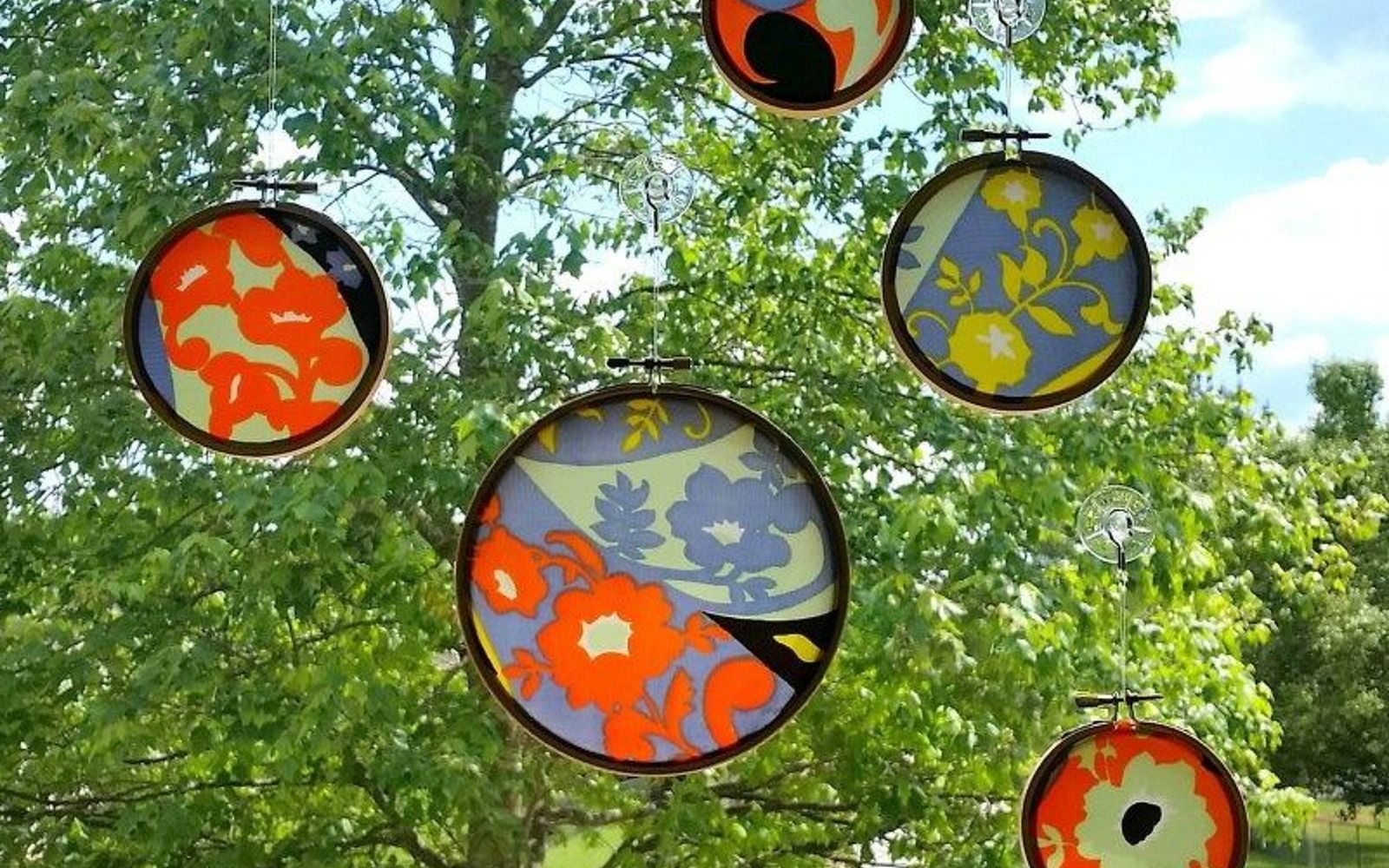 s 13 stunning vintage fabric ideas that ll send you to the thrift store, crafts, repurposing upcycling, reupholster, Vintage Silk Scarf into Sun Catcher
