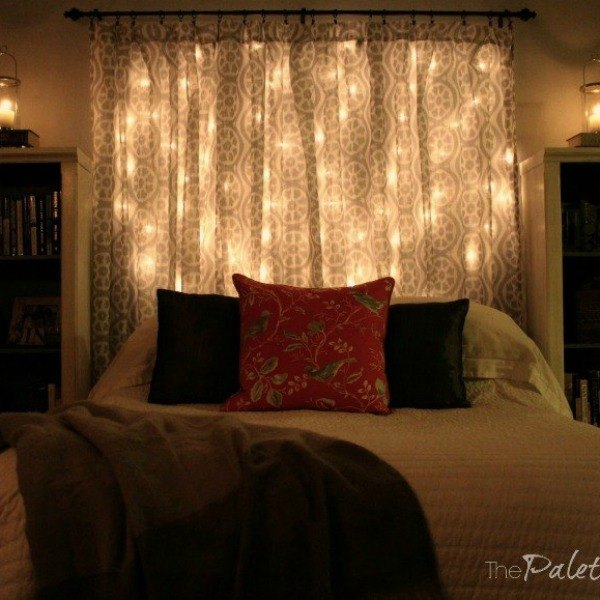 14 string light ideas that are cozier than your bed hometalk. Black Bedroom Furniture Sets. Home Design Ideas