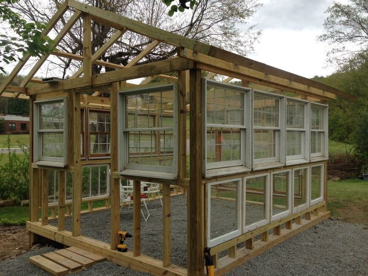 My hubby built a greenhouse hometalk for Greenhouse architecture design