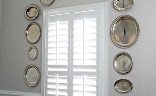 silver trays in our new dining room wall decor, repurposing upcycling, wall decor