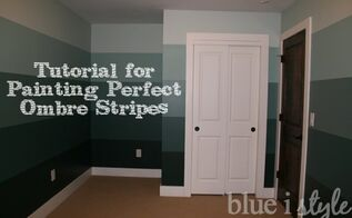 how to paint ombre striped walls or any stripes, how to, paint colors, painting