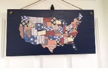 patriotic scrapbook paper map doog hanger, crafts