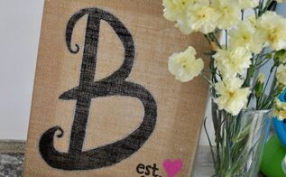 easy burlap home decor sharpie, crafts, home decor