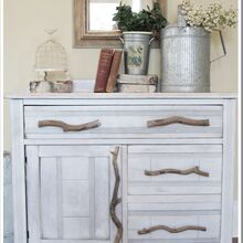 you ll never guess what s inside this cabinet, painted furniture, repurposing upcycling, rustic furniture, This rustic piece started as an old discarded cabinet with broken handles