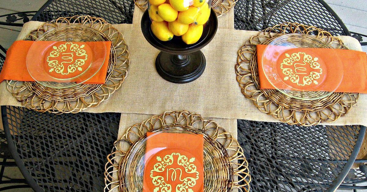 How To Create Monogrammed Plates Outdoorentertaining Hometalk
