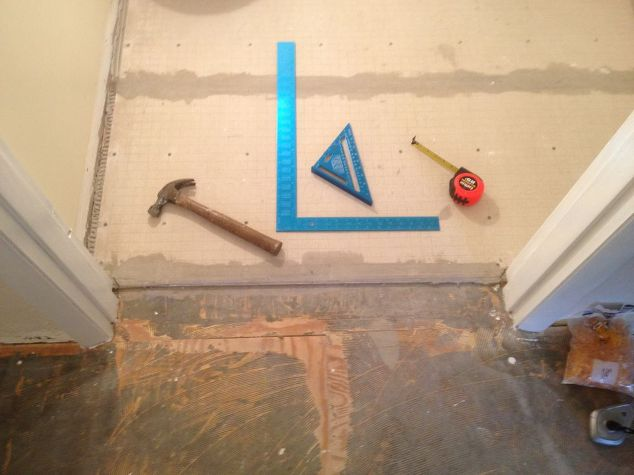 Floor Leveling Compound For Bathroom : Bathroom floor tile prep work that s crucial for a