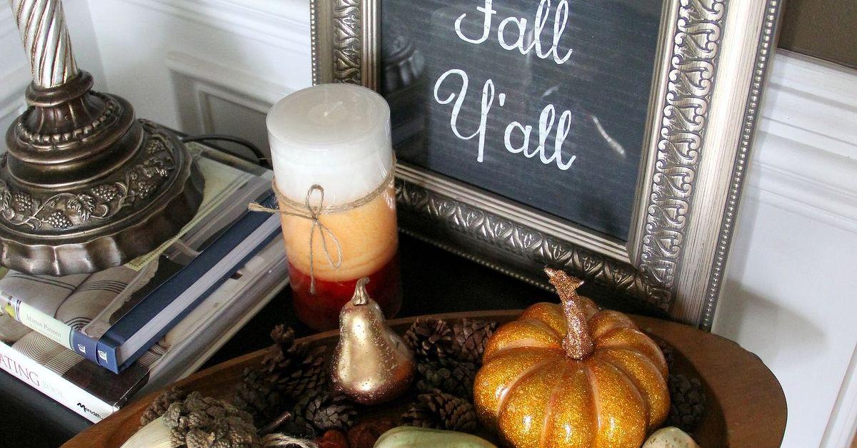 Happy Fall Yu0026#39;all Chalkboard Decoration : Hometalk