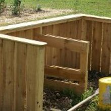 compost bins made from pallets for free, gardening, outdoor living, pallet, Our two bin compost system made entirely from pallets cost 0