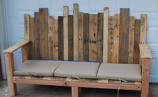 pallet bench, painted furniture, pallet