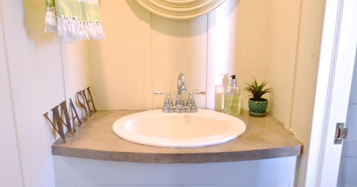 Fun bright makeover for powder room hometalk for Small baths 1200