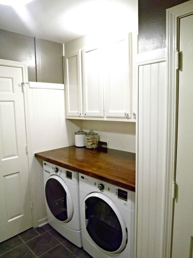 Mudroom laundry room update hometalk - Laundry room shelving ideas ...