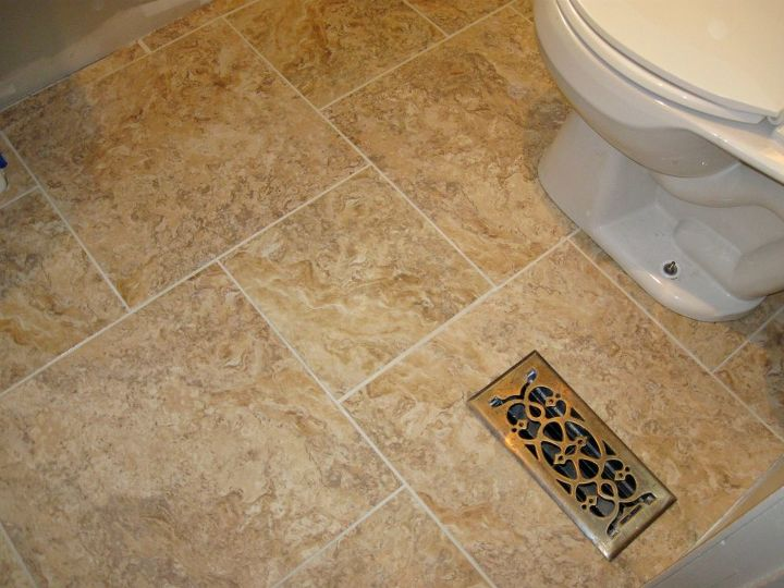 diy grouted vinyl tiling bathroom ideas home decor tile flooring