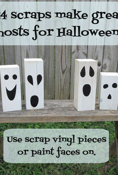 quick amp easy halloween decor, crafts, halloween decorations, seasonal holiday decor, using scraps to make these fun ghosts was so easy
