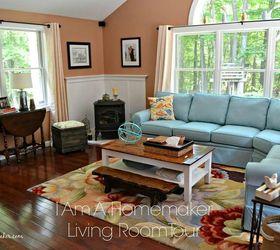 Blue and Orange Living Room Style Hometalk