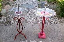 easy diy candle holder birdfeeders, gardening, repurposing upcycling, Finished birdfeeders