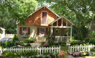 add curb appeal to your home, curb appeal, fences, flowers, gardening, hydrangea, porches, After Dramatic Transformation