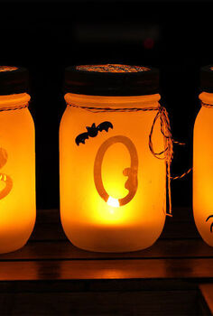 halloween mason jar luminarias, halloween decorations, mason jars, seasonal holiday decor