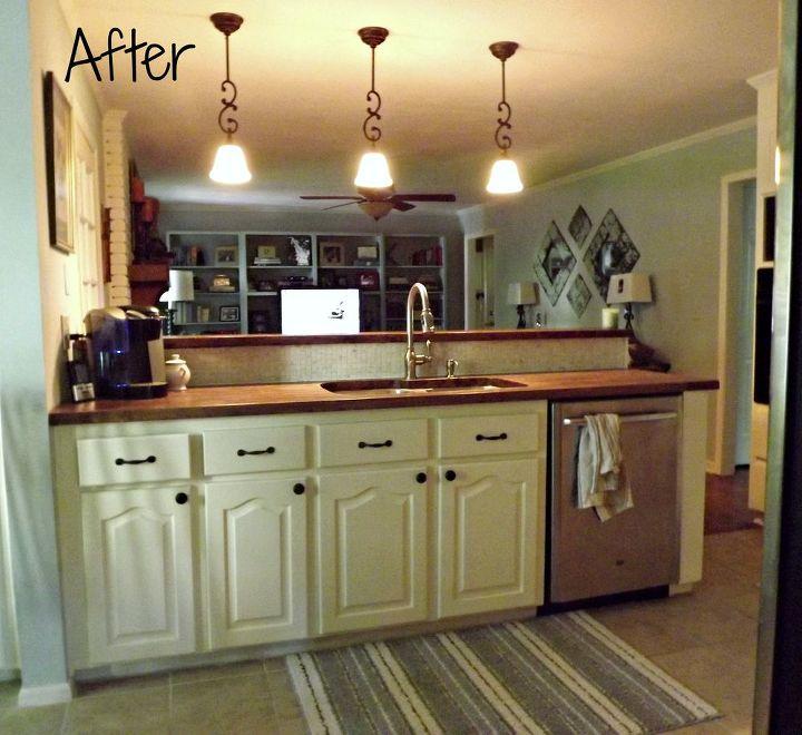 Kitchen Makeover With Butcherblock Countertops Countertops Diy How To Kitchen Backsplash
