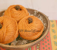 quick easy diy fall craft yarn pumpkins, crafts, seasonal holiday decor, DIY yarn pumpkins