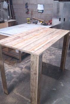 q kitchen island from old cupboard pallet top, diy, kitchen design, kitchen island, pallet, repurposing upcycling