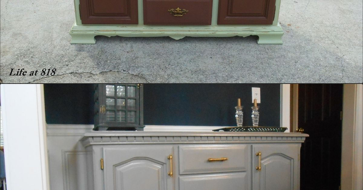 Painting an Old Dining Room Buffet | Hometalk
