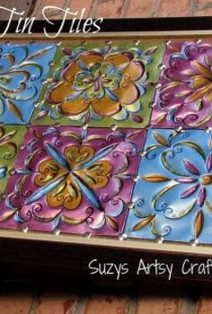 faux tin tiles, painting, tiling