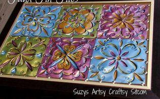 faux tin tiles, painting, tiling