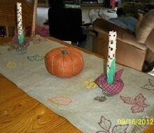 another burlap table runner, crafts, fireplaces mantels, home decor, THEN IT DAWNED ON ME I DON T have a mantle well I sorta have a mantle I just don t have a fireplace that s another story So I did the next best thing and made it into a table runner It was already fringed on the ends