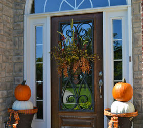 Fall Front Porch Decorations, Doors, Outdoor Living, Porches, Seasonal  Holiday Decor,
