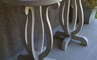 diy accent table with curvy legs, diy, painted furniture, woodworking projects