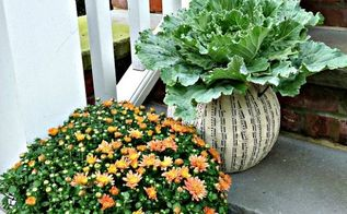 welcome fall the best makeover for a 1 plastic pumpkin simple pumpkin topiaries, gardening, repurposing upcycling, seasonal holiday d cor, wreaths, The best makeover for a 1 plastic pumpkin