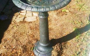 bird bath painted, gardening, halloween decorations, painting, Bird Bath