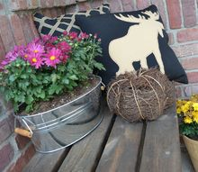 fall decor simple inexpensive updates, home decor, porches, seasonal holiday decor