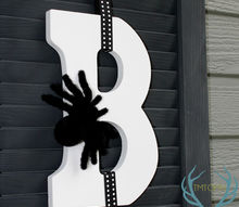 upcycled shutter boo decoration, crafts, halloween decorations, seasonal holiday decor