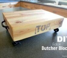 woodworking faux butcher block, crafts, diy, home decor, kitchen design, woodworking projects