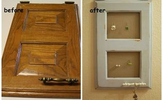 cabinet door repurposed into a jewelry holder, cleaning tips, doors, repurposing upcycling