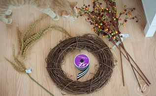 fall wreath grapevine berries easy, crafts, seasonal holiday decor, wreaths