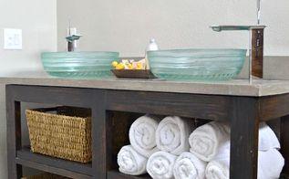 woodworking bathroom vanity open shelf, bathroom ideas, diy, home improvement, shelving ideas, woodworking projects