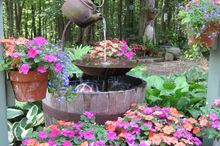 tea pot fountain instructions, home decor, outdoor living, ponds water features, Here is my tea pot fountain in full bloom