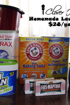 homemade laundry soap 28 per year, cleaning tips, Only 28 per year if you do an average 6 loads per week