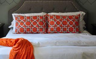 gray and orange master bedroom makeover, bedroom ideas, home decor, wall decor