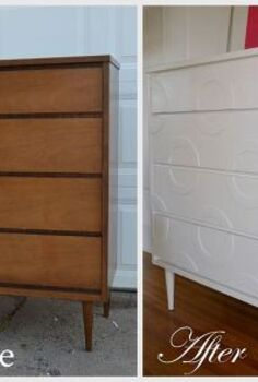 mid century dresser makeover, painted furniture